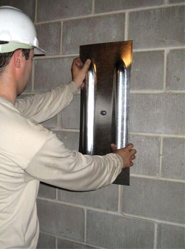 Technician install wall plate