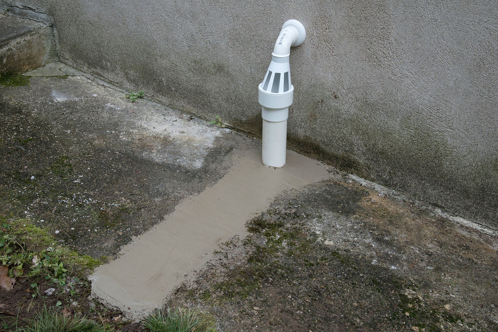 Downspout drain for waterproofing solutions