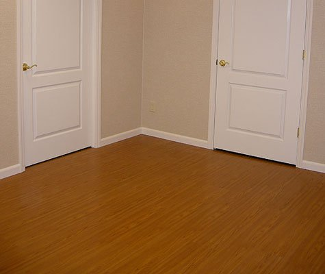 Wood flooring of residential home