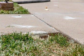 Sidewalk after concrete repair example image