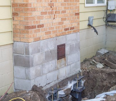 Repaired Tilted Chimney