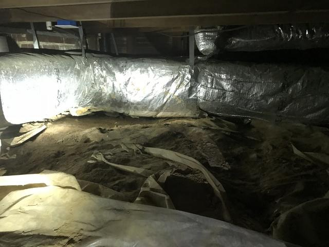 Crawl Space Moisture Problems Solved in Fort Smith, AR - Before Photo