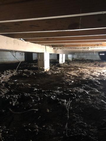 crawl space that needs repair
