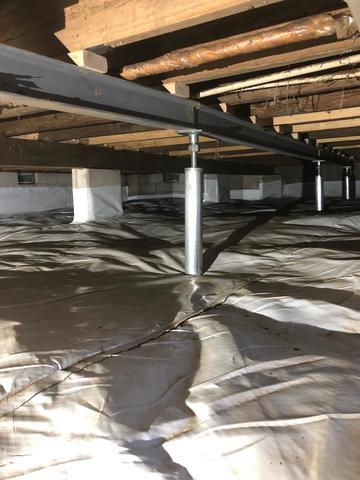 waterproofed crawlspace