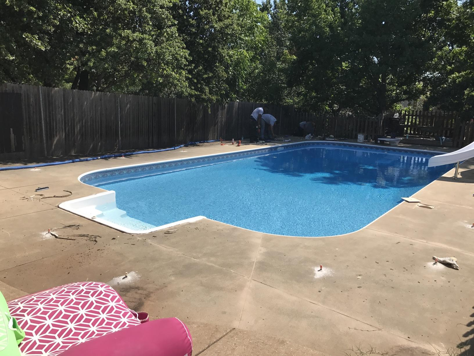 This entire pool was protected by installing POLY Level injection and Nexus Pro Joint sealer