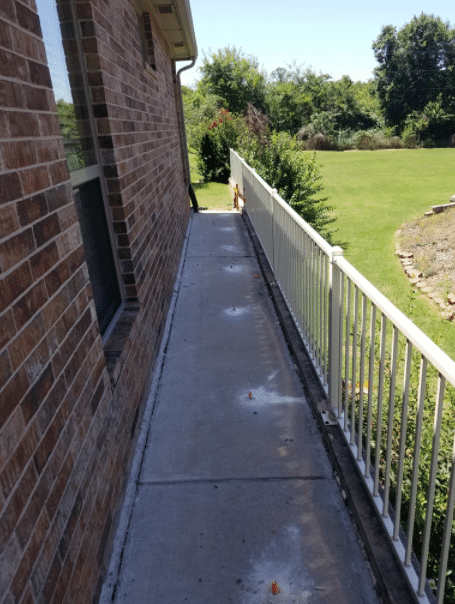 The Poly level system is injected through 5/8inch ports. This system is installed to compress, stabilize and lift the foundation or slab off of a stabilized soil.