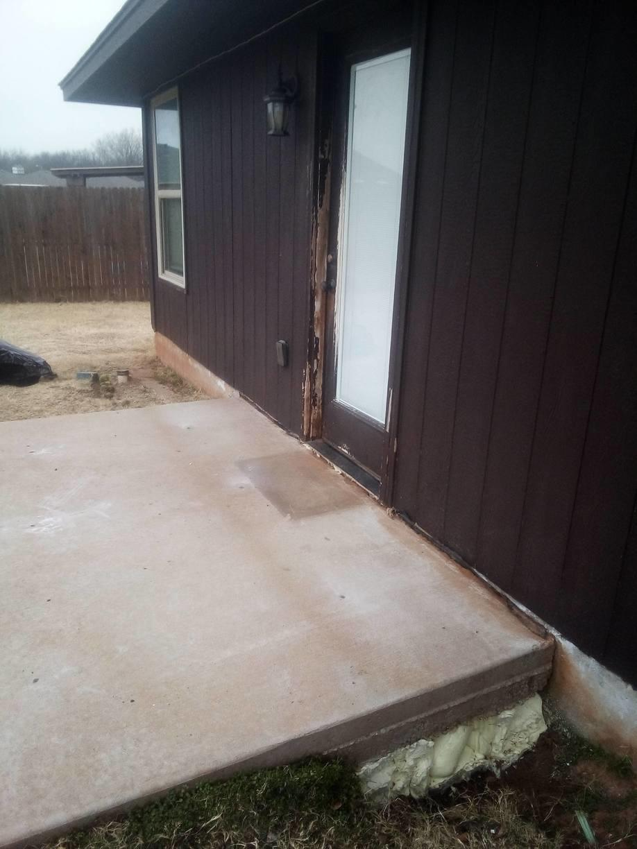 PolyLevel completely filled this large void. This porch no longer is a trip hazard or unlevel.