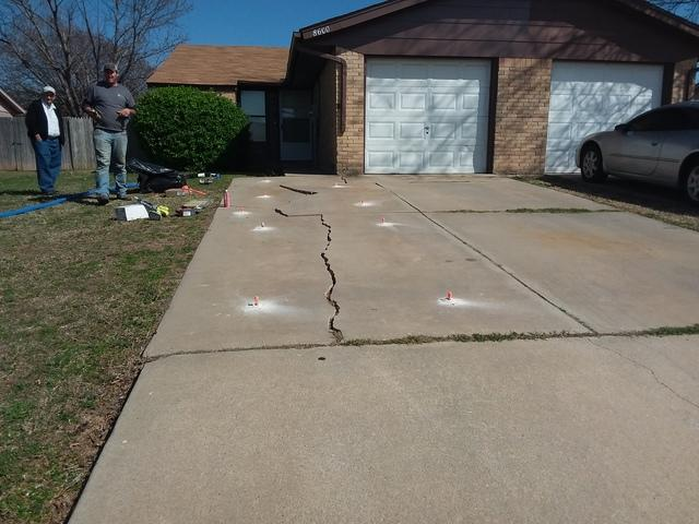 Driveway Repaired in Oklahoma City, OK - Before Photo