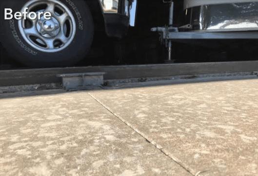 Pauls Valley, OK Concrete Slab Repair - Before Photo