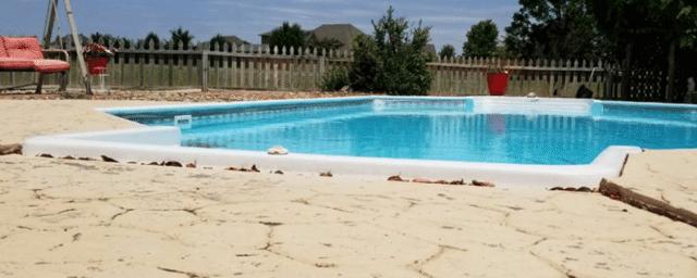Pool Deck Repair in Newcastle, OK - Before Photo