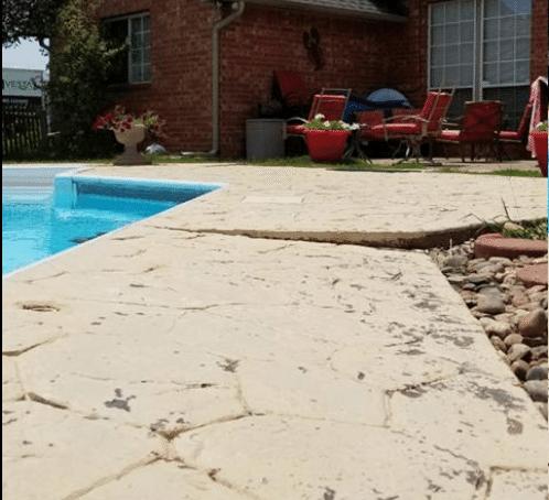 Pool Deck Repair Newcastle, OK - Before Photo