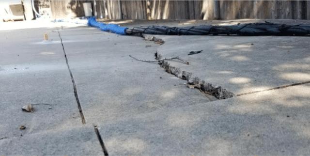 Concrete Slab Lifting in Arcadia, OK - Before Photo