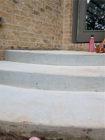 Front Steps Lifted in Arcadia, OK - After Photo