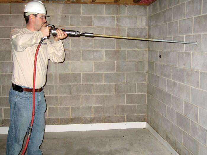 Vesta technician repair wall