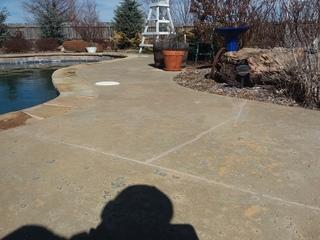 Concrete Joints are sealed using Nexus Pro Sealer and sand to color match the concrete with the sealed joint.