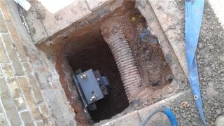 Piers were installed in tight locations and benchmarked when they were complete.