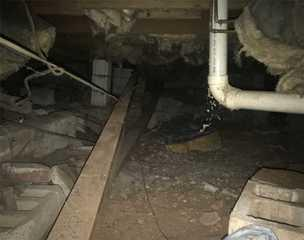 Destruction due to not maintaining a healthy crawl space