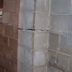 Bowing concrete walls