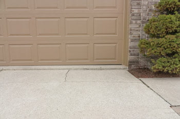 Driveway repair before concrete repair