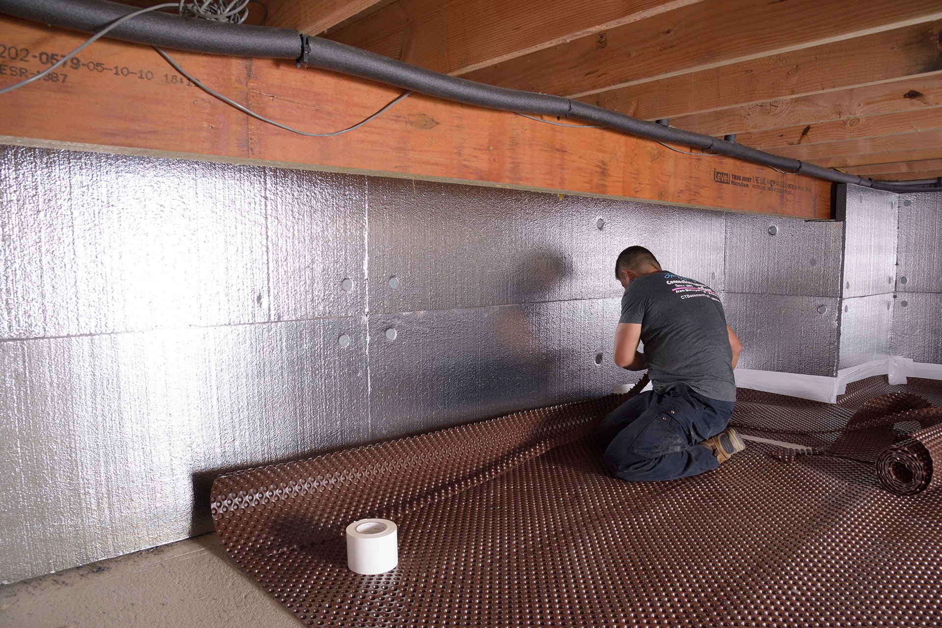 Crawl Space Drainage Matting