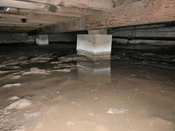 Wet Crawl space